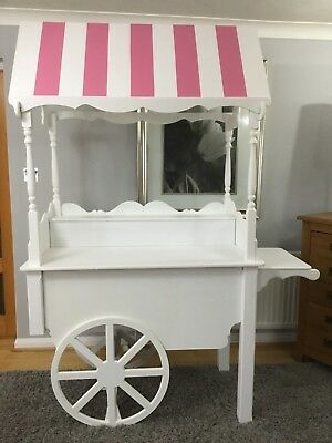 Fully Collapsible Sweet Cart Wooden Cart Display Cart For Sale