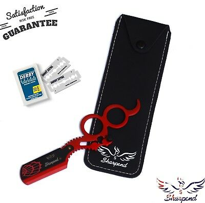 Sharpend Barber Salon Straight Cut Throat Shaving Razor Rasoirs Rasoi +10 Blade