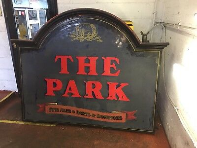Large reclaimed pub sign - THE PARK - Vintage, antique, rare (1 of 3)