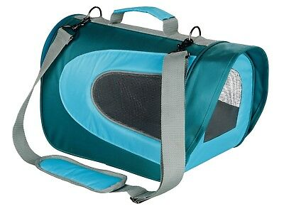 Alina Transport Carrier for Small Cats & Animals Guinea Pigs Rabbits (blue)