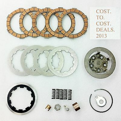 Lambretta Clutch Kit for 5 Plate set up- Flange,Plates,Springs,Corks,etc NEW
