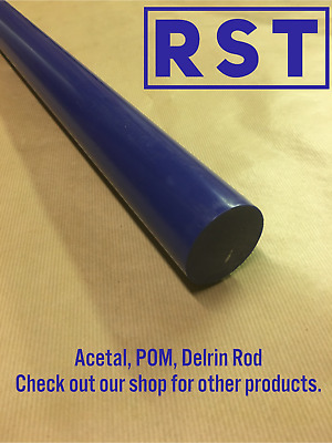 60mm Blue Acetal Rod,  Delrin Round Bar Engineering Plastic