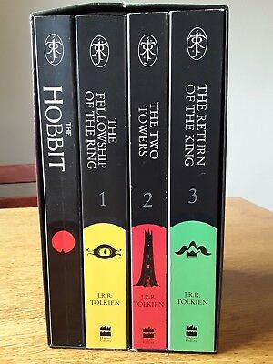 The Hobbit & The Lord of the Rings Boxed Set by J. R. R. Tolkien (Mixed media...