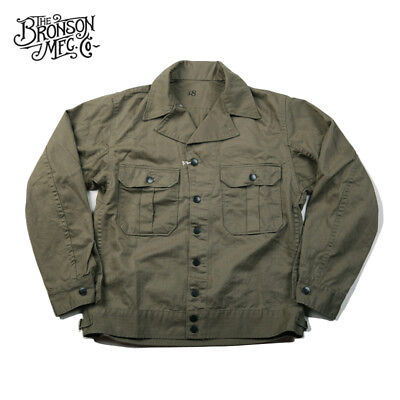 Bronson Vintage M-40 1st HBT Fatigue Jacket US Army Men's Field Uniform M41 M40