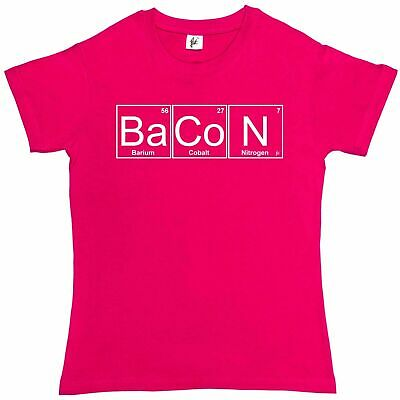 Periodic Table - Chemistry Of Bacon Geek Chemistry Womens Boyfriend Fit T-Shirt