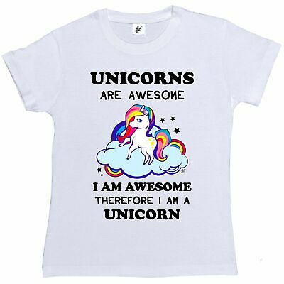 Unicorns Are Awesome Therefore I'm A Unicorn Womens Boyfriend Fit T-Shirt