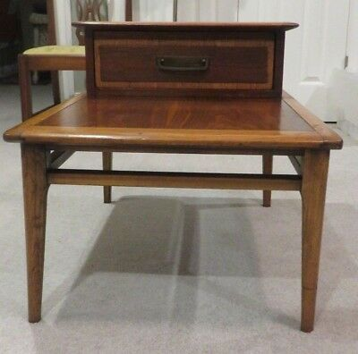Vintage Lane Acclaim Two Tiered Step Up Side End Table W Drawer Serial 967