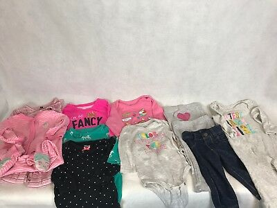 7073ac364273 Lot of 11 Baby Clothes Girls Size 6 Months Carters Emily and Oliver Charity