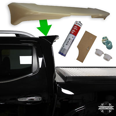 Rear Spoiler+Fitting kit for Navara NP300 double cab pickup accessories wing