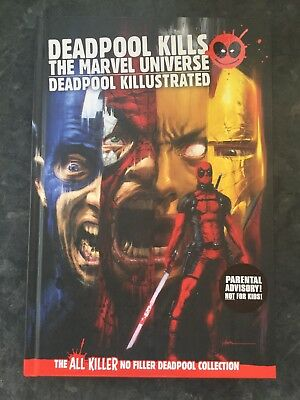 Deadpool Kills The Marvel Universe & Killustrated Graphic Novel  ,Hardback 1st