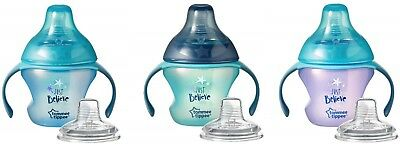 Tommee Tippee Bottle to Cup Transition Sippee Trainer, 4 - 7 Months, BPA FREE