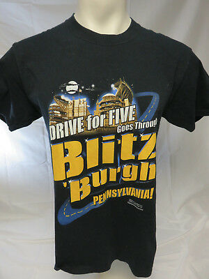 0693b36c61e Pittsburgh Steelers Blitzburgh Drive For Five T Shirt Size M Great Graphics!