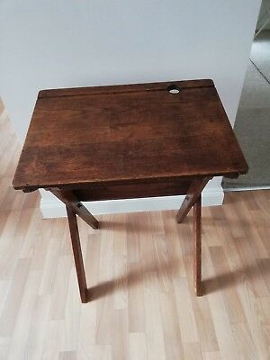 Antique Classic Childrens angled folding School Desk -solid wood good quality