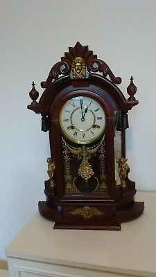 Highlands Vintage Style Mantle or Wall Clock With Full Westminster Chimes