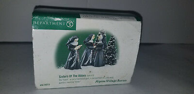 NEW Department 56 Alpine Village Sisters Of The Abbey Set of 2