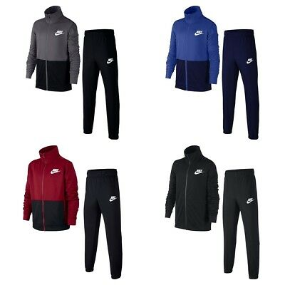 Nike Boys NSW Tracksuit Sports Training Football Kids Jogging Bottoms Full Zip