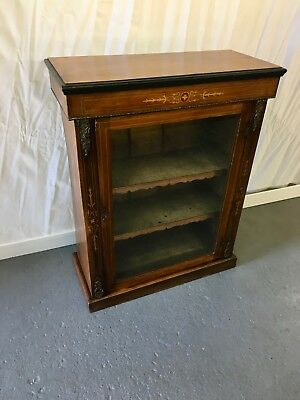 Antique Victorian inlaid pier cabinet #2089L
