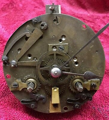 Small Old French clock movement  for spares/repairs