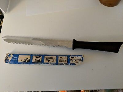 Vintage Quikut Inc Serrated Knife Bread Fork Tip Meat Stainless Steel made USA