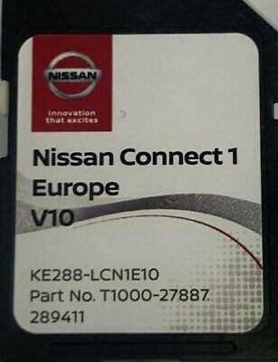 Genuine Nissan Connect 1 Latest Sat Nav Lcn1 Sd Card V9 2019 Maps