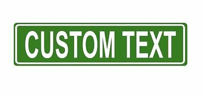 Large Custom Metal Street Sign Your Personalized Message Text Name Car Saying