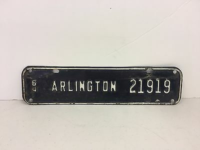 Vintage License Plate Topper Arlington Virginia VA Metal Automobile 1964
