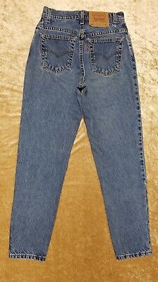 Vintage Womens Levis 550 Jeans 7 MED Relaxed Fit Tapered Leg 100% Cotton USA