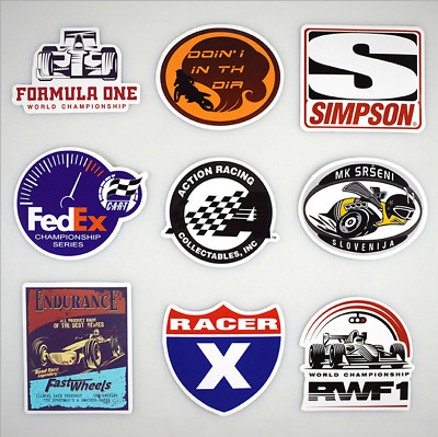 50pcs Lot Racing Stickers Decals Motocross Motorcycles Car Vintage