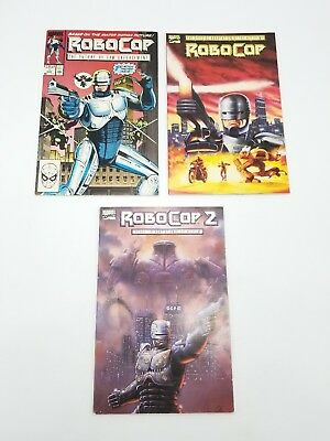 Robocop #1 Movie Adaptation #1 Robocop 2 Movie Lot of 3 Marvel Comic Book