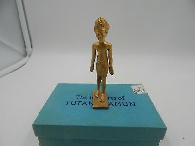 1976 Treasures of Tutankhamun King Tut Figurine Metropolitan Museum of Art Box