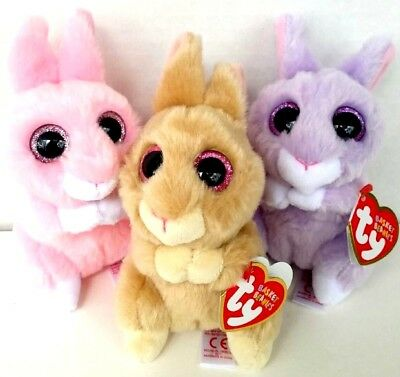 TY APRIL BASKET Beanie Soft Purple Easter Bunny 4