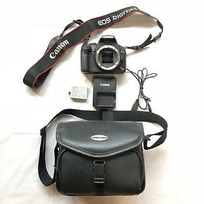 Canon Rebel t1i EOS Body with Battery, Charger, Camera Bag, USB Cord Parts AS IS