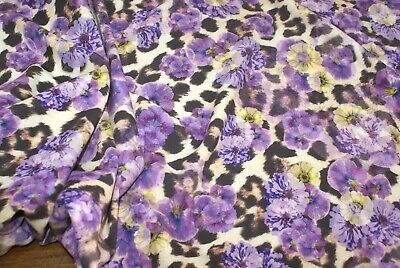 ** Exclusive** stylex  Luxury Floral Printed Scuba Dress Fabric 150cmWide