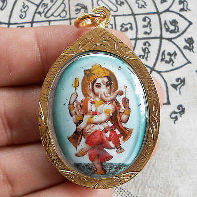 God Ganesha Lord of Success Elephant Deity Hindu Amulet Pendant Talisman Success