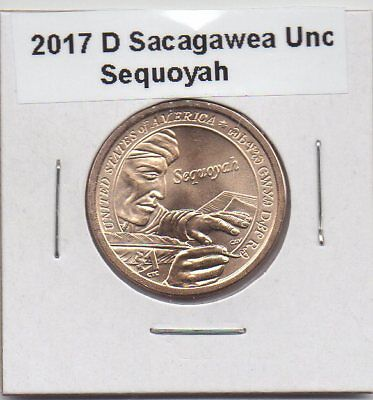2017-D Sacagawea/ Native American Dollar Uncirculated From Us Mint Roll