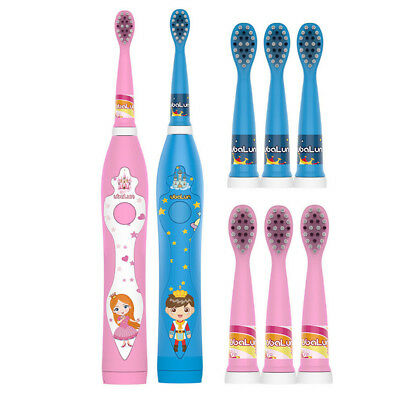 Kids Sonic Electric Toothbrush USB Rechargeable 4 Brush Heads For Children