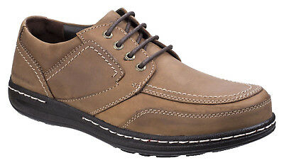 Hush Puppies Volley Victory Mens Leather Casual Shoes Brown UK Size