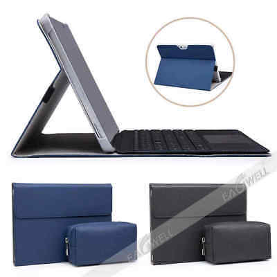 For Microsoft Surface Go Pro4 5 6 Business Leather Case Stand Cover w/ Power Bag