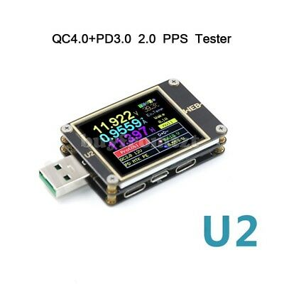 WEB-U2 USB Current/Voltage Meter QC4+PD3.0 2.0 PPS Fast Charge Protocol Tester-