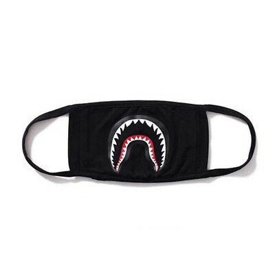 Fashion Bathing Ape Bape Shark Black Face Mask Camouflage Mouth-muffle BAPE Mask