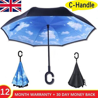 Rain Better Brella - Double Layer Upside Down Inverted Reverse C Umbrella Gift