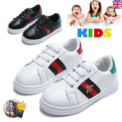 KIDS BOYS GIRLS Bee SPORT RUNNING SHOCK ABSORBING INFANTS LACE UP SHOES TRAINERS