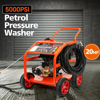 NEW 5000 PSI Petrol High Pressure Washer 20HP Water Blaster Gurney Pump Cleaner