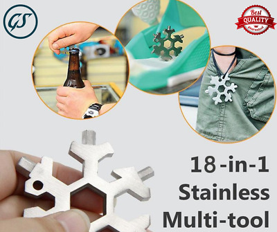 Amenitee 18-in-1 stainless steel snowflakes multi-tool Free & Fast & Good & Top~