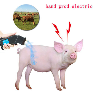 4000V Electric Hand Cattle Prod Dairy Dogs Sheep Battery Power Animal Prodder RM