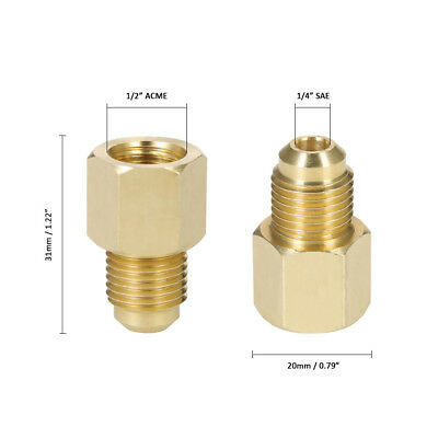 R134A Refrigerant Tank Vacuum Pump Adapter to R12 Fitting Adapter  BS