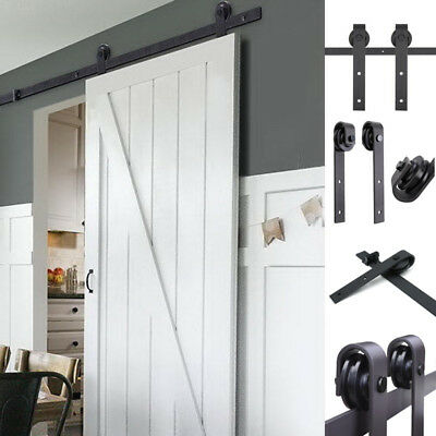 Sliding Barn Door Hardware Set - 1.83/2/2.44/3m Interior Closet Home Track Kit
