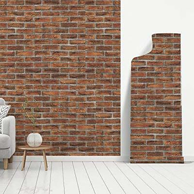 "Brick pattern Wallpaper Decor Vintage Self Adhesive Film Stickers 17.7"" x 78.7"""