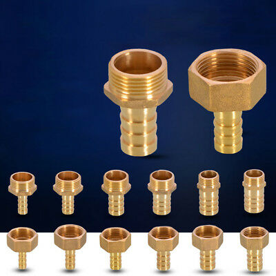 Brass BSP Thread Air Line Hose Coupler Fittings Barb Hose Tail End Connector