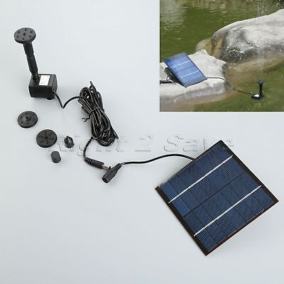 1.2W 7V Solar Panel Powered Brushless Pump For Water Cycle Pond Fountain Garden